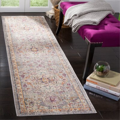 Soren Lilac/Light Gray Area Rug Rug Size: Runner 23 x 8