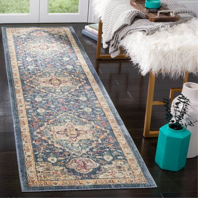 Soren Blue/Purple Area Rug Rug Size: Runner 23 x 8