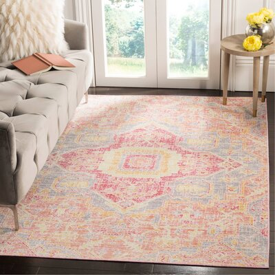 Chauncey Fuchsia Area Rug Rug Size: Rectangle 3 x 10