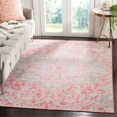Chauncey Rose / Seafoam Area Rug Rug Size: Rectangle 3' x 5'