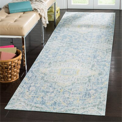 Chauncey Blue Area Rug Rug Size: Rectangle 3 x 10