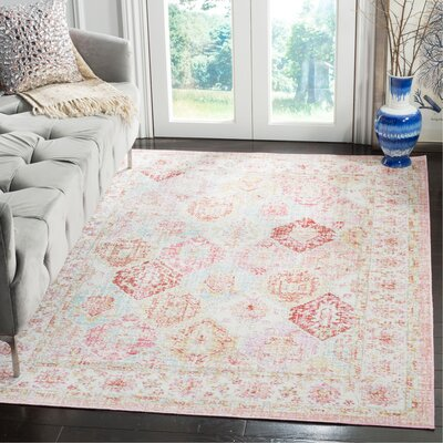 Chauncey Pink Area Rug Rug Size: Rectangle 8 x 10