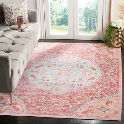 Chauncey Pink Area Rug Rug Size: Rectangle 9 x 13
