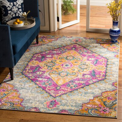 Esparza Light Gray Area Rug Rug Size: Rectangle 51 x 76