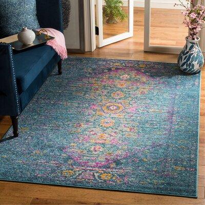 Esparza Blue Area Rug Rug Size: Rectangle 51 x 76