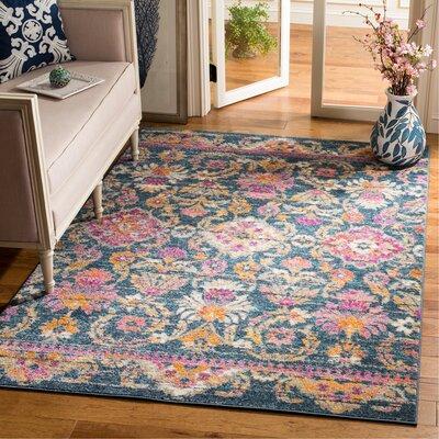 Esparza Boho Blue Area Rug Rug Size: Rectangle 51 x 76