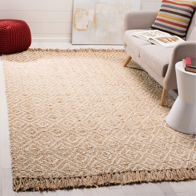 Stokes Natural Fiber Hand Tufted Ivory Area Rug� Rug Size: Rectangle 6 x 9