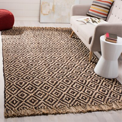 Sherbrooke Natural Fiber Hand Woven Brown Area Rug� Rug Size: Rectangle 4 x 6