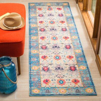 Sonakshi Hand Tufted Blue Area Rug Rug Size: Runner 23 x 8