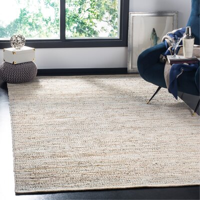 Glostrup Contemporary Hand Tufted Beige Leather Area Rug Rug Size: Rectangle 5 x 8