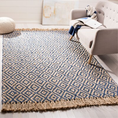 Okaloosa Natural Fiber Hand Tufted Tropical Blue Area Rug� Rug Size: Rectangle 4 x 6