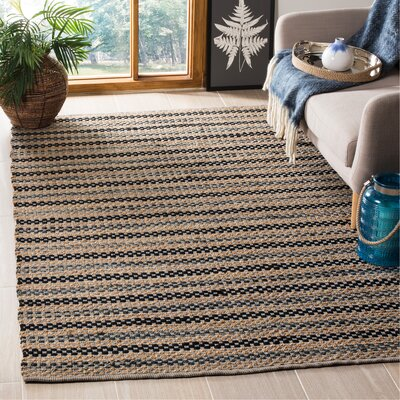 Abhay Hand Woven Gray/Beige Area Rug Rug Size: Rectangle 5 x 8