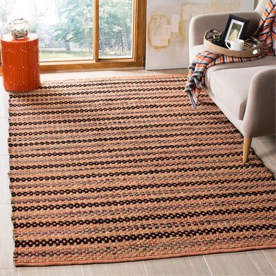 Abhay Hand Woven Orange/Brown Area Rug Rug Size: Rectangle 5 x 8