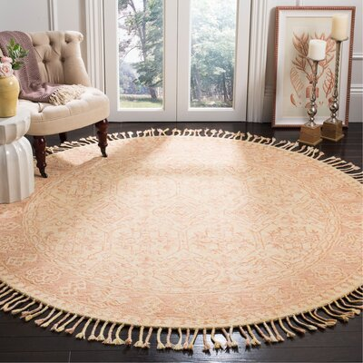 Chancellor Hand-Tufted Wool Ivory Area Rug Rug Size: Round 7