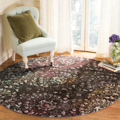 Andy Brown Area Rug Rug Size: Round 65