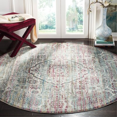 Andy Red Area Rug Rug Size: Round 65