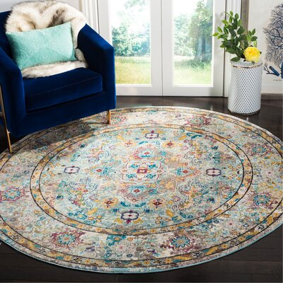 Andy Beige Area Rug Rug Size: Round 65
