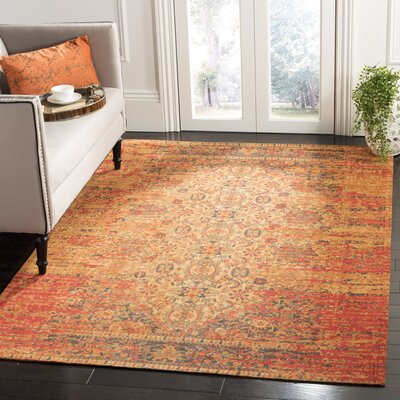 Joselyn Coral Area Rug Rug Size: Rectangle 6 x 9