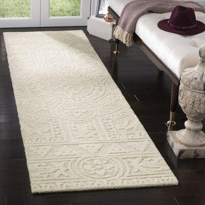 Jahiem Hand Tufted Wool Beige Area Rug Rug Size: Runner 23 x 8
