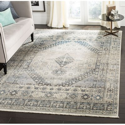 Egremont Vintage Persian Gray Area Rug Rug Size: Rectangle 6 x 9