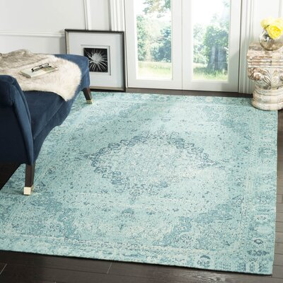 Chenault Teal Area Rug Rug Size: Rectangle 5 x 8