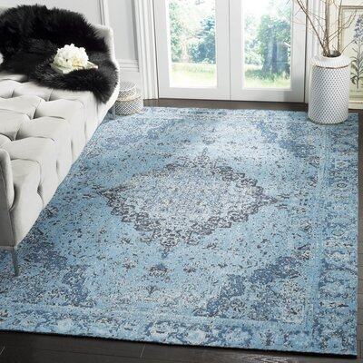 Chenault Blue Area Rug Rug Size: Rectangle 5 x 8