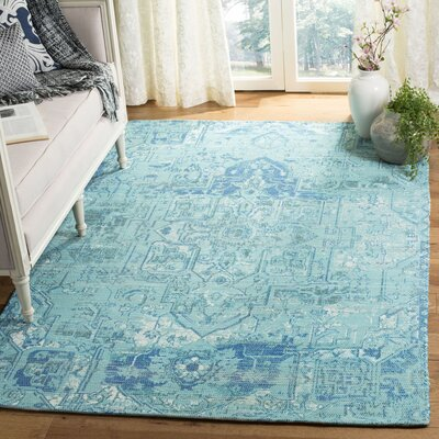 Cheng Hand Woven Aqua/Blue Area Rug Rug Size: Rectangle 5 x 8