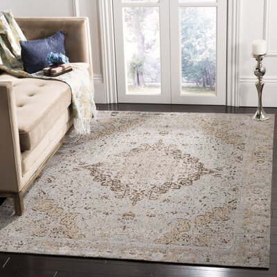 Chenault Taupe Area Rug Rug Size: Rectangle 5 x 8