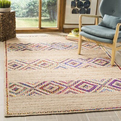 Framingham Hand-Woven Natural Area Rug Rug Size: Rectangle 5 x 8