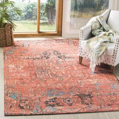 Cheng Hand Woven Rust/Blue Area Rug Rug Size: Rectangle 5 x 8