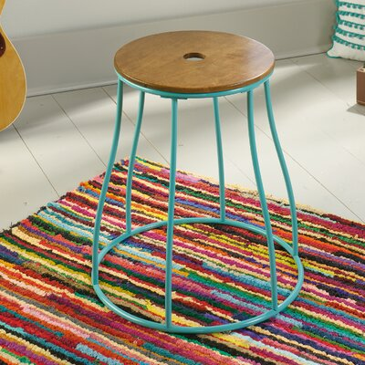 Almelo Round End Table Color: Aqua