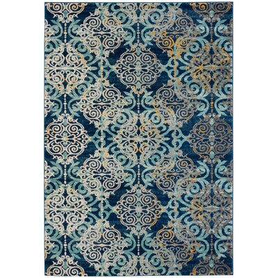 Ameesha Blue/Gray Area Rug Rug Size: Rectangle 51 x 76