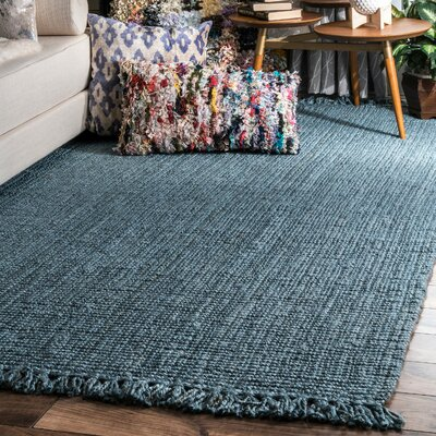 Chappell Hand-Woven Blue Area Rug Rug Size: Rectangle 76 x 96