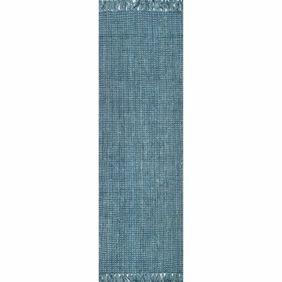 Chappell Hand-Woven Blue Area Rug Rug Size: Runner 26 x 8