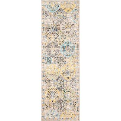 Cavallo Beige/Yellow Area Rug Rug Size: Runner 28 x 8