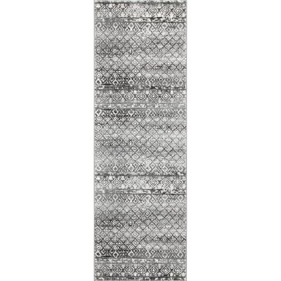 Caulfield Dark Gray Area Rug Rug Size: Runner 28 x 8