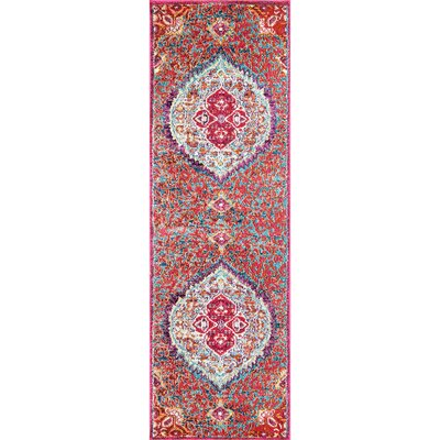 Chagoya Red Area Rug Rug Size: Runner 26 x 8