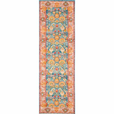 Chaidez Orange Area Rug Rug Size: Runner 26 x 8