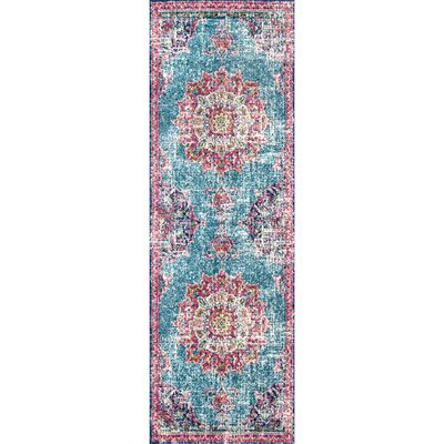 Charland Pink/Blue Area Rug Rug Size: Runner 28 x 8
