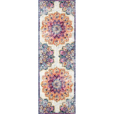 Caudle Red/Yellow Area Rug Rug Size: Runner 28 x 8