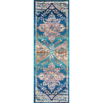 Chane Blue Area Rug Rug Size: Runner 28 x 8