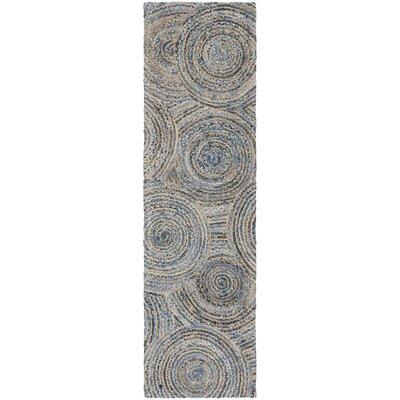 Abhay Hand Woven Gray/Blue Area Rug Rug Size: Runner 23 x 8