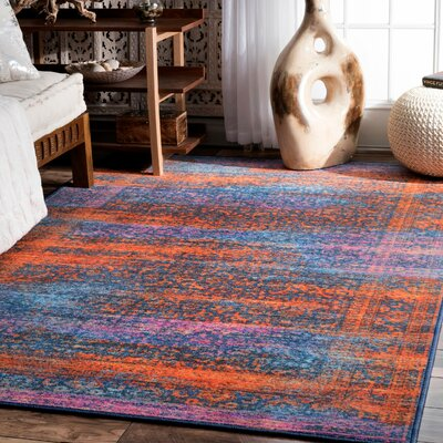 Chancy Navy Blue Area Rug Rug Size: Rectangle 5' x 8'