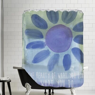 Amy Brinkman Rumi Watercolor Beauty Of Love Shower Curtain