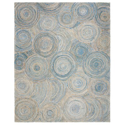 Abhay Boho Hand Woven Jute/Sisal Gray/Blue Area Rug Rug Size: Rectangle 8 x 10