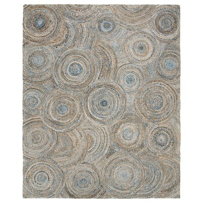 Abhay Hand Woven Gray/Blue Area Rug Rug Size: Rectangle 6 x 9