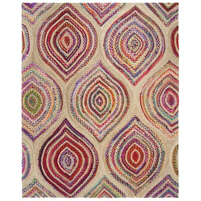 Abhay Hand Knotted Beige Area Rug Rug Size: Rectangle 4 x 6
