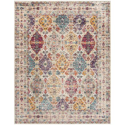 Doucet Pink/Cream Area Rug Rug Size: Rectangle 8 x 10