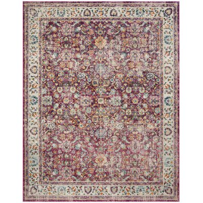 Doucet Red/Gray Area Rug Rug Size: Rectangle 4 x 6