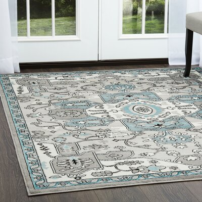 Brees Kaleidoscope Silver Area Rug Rug Size: Rectangle 52 x 72